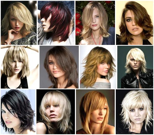 Причёски на среднюю длину волос без чёлки